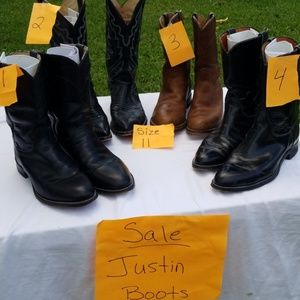 SALE. JUSTIN  WESTERN BOOTS